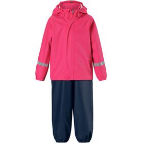 Reima Tihku Rain Outfit Kids Candy Pink